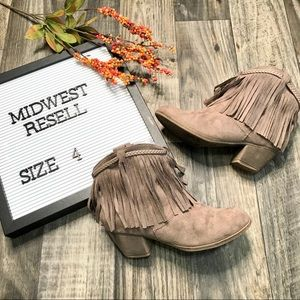 Rock & Candy Fringe Ankle Boots -4